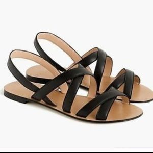 COPY - J Crew Leather Cross Strap Sandals